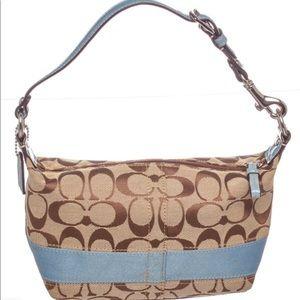 Coach Monogrammed Baguette Bag